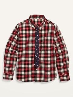 Oldnavy Built-In Flex Shirt and Tie Set for Boys