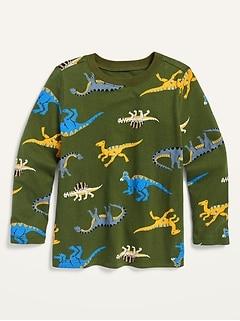 Oldnavy Dino-Print Crew-Neck Tee for Toddler Boys Hot Deal