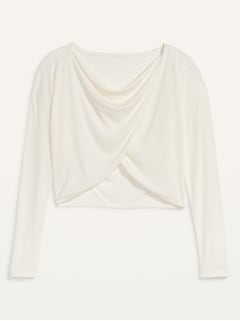 Oldnavy UltraLite Rib-Knit Twist-Front Performance Top for Women