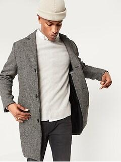 Oldnavy Soft-Brushed Houndstooth Topcoat for Men