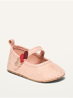 Oldnavy Unisex Valentines Faux-Suede Ballet Flats for Baby