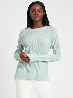 Bananarepublic Chunky Cable-Knit Sweater