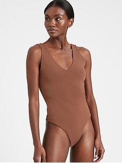 Bananarepublic V-Neck Thong Bodysuit