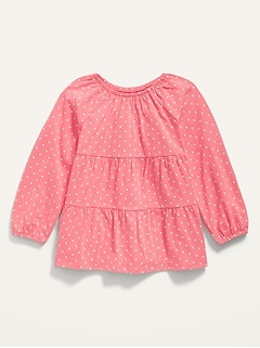 Oldnavy Long-Sleeve Tiered Scoop-Neck Tunic for Toddler Girls