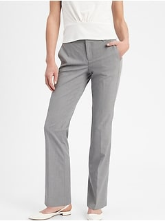 PRE-OWNED Ladies Banana Republic Brown Logan Stretch Faded Trousers Size 0 L32