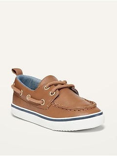 Oldnavy Unisex Faux-Leather Boat Shoes for Toddler
