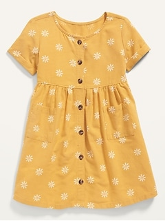 Oldnavy Fit & Flare Printed Button-Front Dress for Toddler Girls
