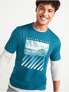 Oldnavy Graphic Go-Dry Cool Odor-Control Core Tee for Men