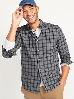 Oldnavy Slim-Fit Built-In Flex Plaid Everyday Shirt for Men