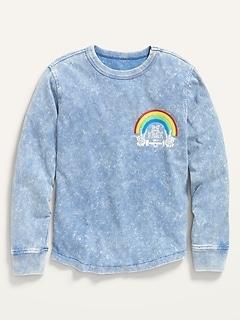 Oldnavy Gender-Neutral Mineral-Dye Graphic Long-Sleeve T-Shirt for Kids