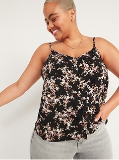 Oldnavy Floral Button-Down Cami Top for Women