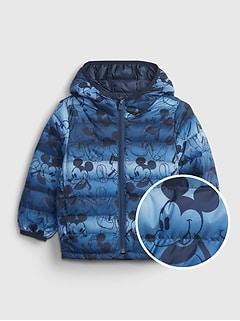 갭 여아용 푸퍼 자켓 babyGap | Disney Mickey Mouse 100% Recycled Polyester ColdControl Puffer Jacket,sailor blue