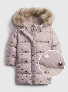 갭 여아용 푸퍼 자켓 GAP Toddler ColdControl Ultra Max Long Puffer Jacket,margate sand beige