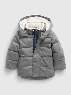 갭 여아용 푸퍼 자켓 GAP Toddler Recycled ColdControl Max Puffer Jacket,heather grey