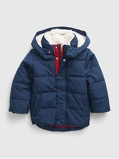 갭 여아용 푸퍼 자켓 GAP Toddler Recycled ColdControl Max Puffer Jacket,elysian blue
