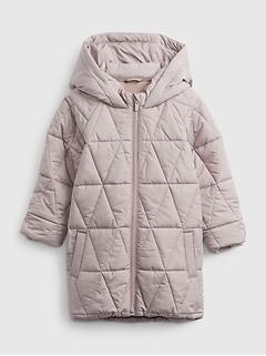 갭 여아용 푸퍼 자켓 GAP Toddler Hooded Puffer Jacket,margate sand beige